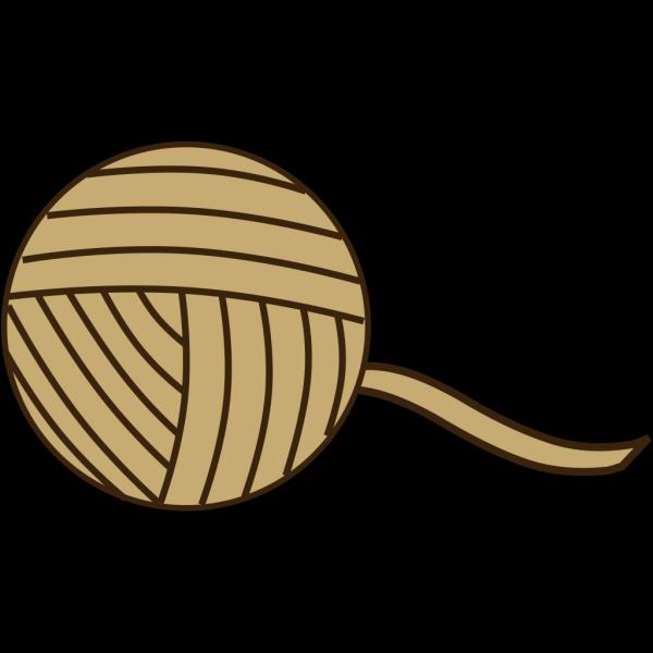 Brown Yarn PNG Clip art