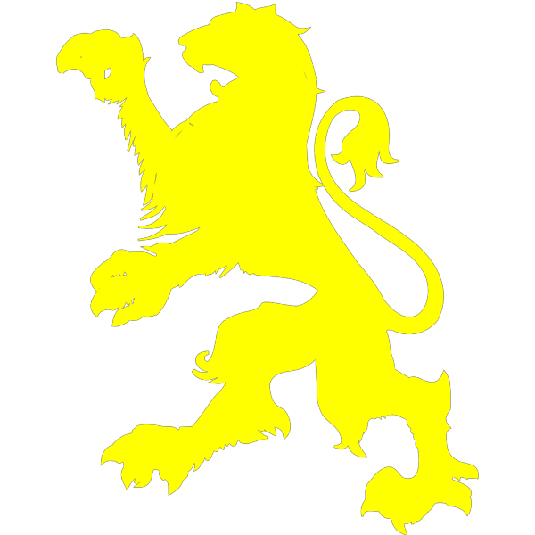 Yellow Lion PNG Clip art