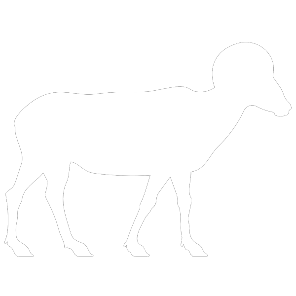 White Ram PNG Clip art