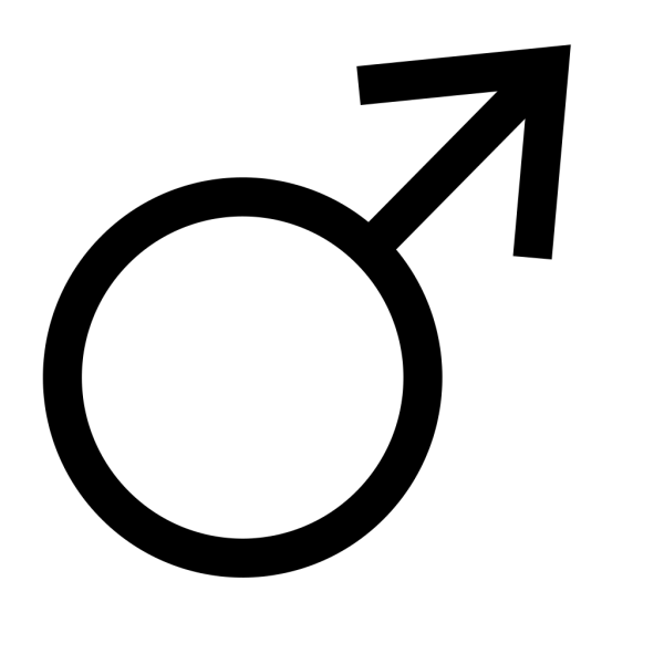 Blue Male Symbol PNG Clip art