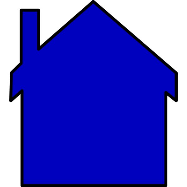 Blue House PNG icons