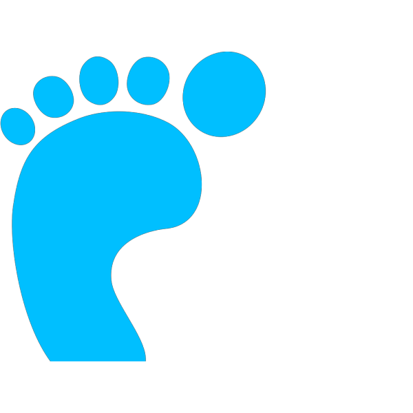 Blue Footprint PNG images