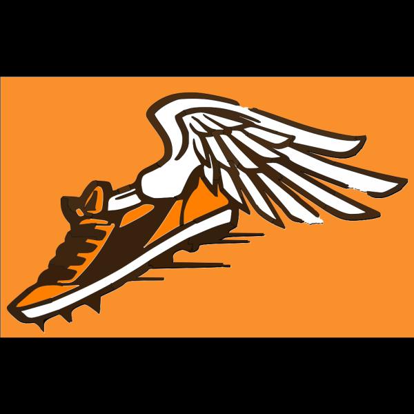 Orange & Brown Shoe PNG Clip art