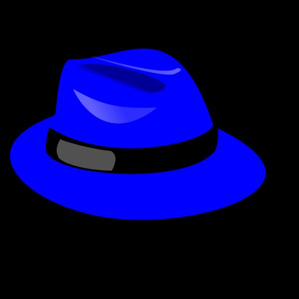 Blue Fedora PNG Clip art