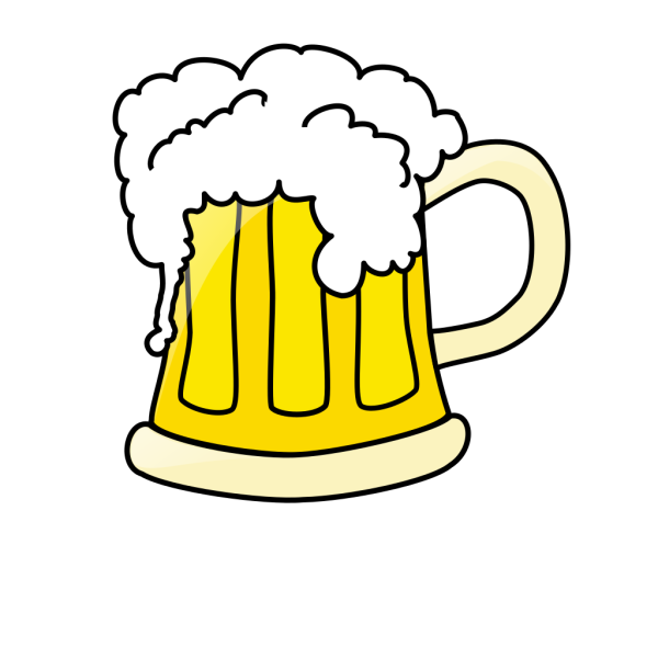 Beer Mug Black And White PNG Clip art