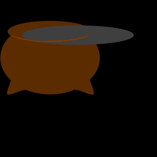 Brown Pot Dark Grey Inside PNG Clip art