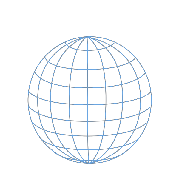 Big Blue Wire Globe Clip art