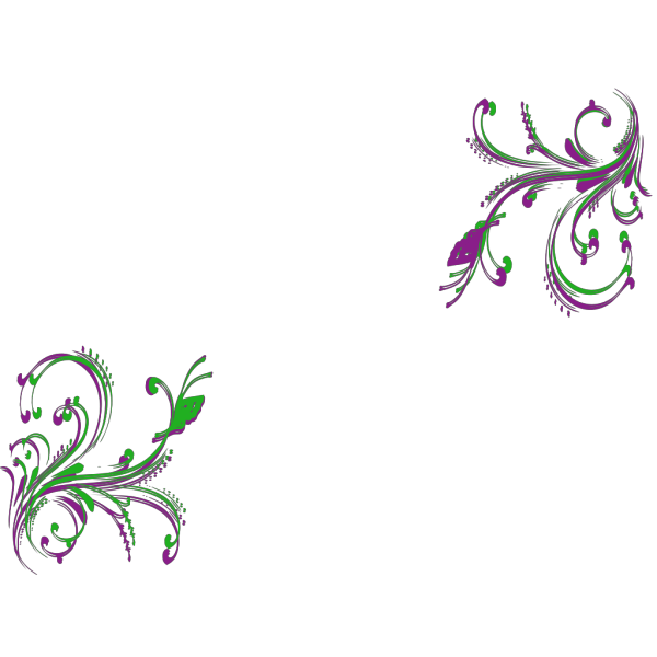 Brown Floral Design With Butterfly PNG Clip art