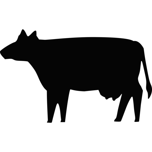 Cow Silhouette PNG Clip art