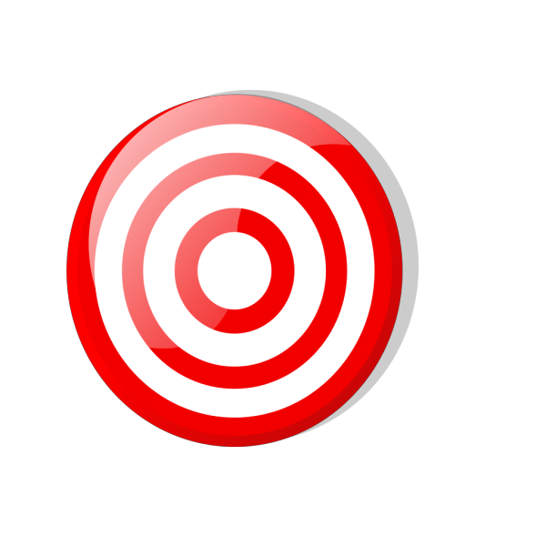 Black And White Target  PNG Clip art