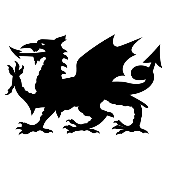 Dragon Silhouette PNG Clip art