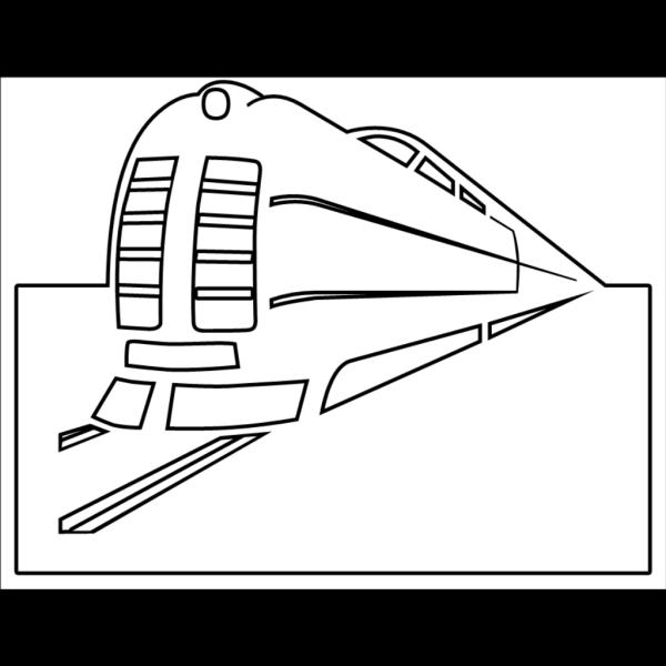 Train Outline PNG Clip art