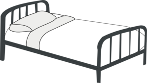 Bed Outline PNG Clip art