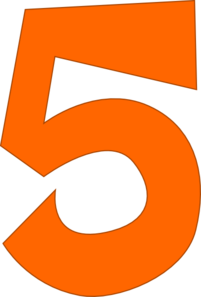 Number 5 PNG icons