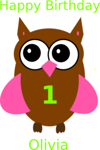 Brown Green Owl Clip art