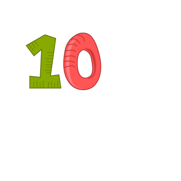 Number 10 PNG Clip art