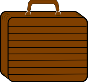 Chocolate Brown Suitcase