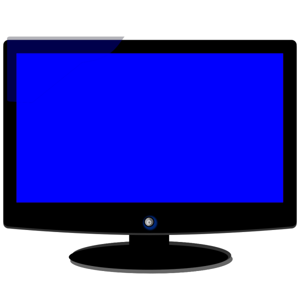 Computer Monitor - Blue PNG Clip art