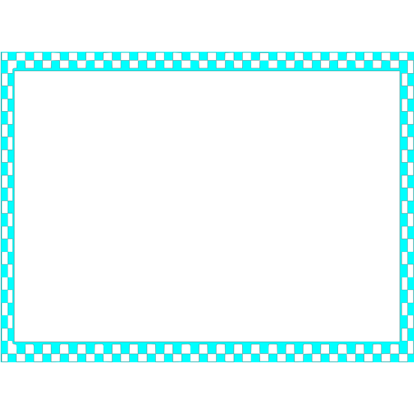 Blue Checkerboard Frame PNG Clip art