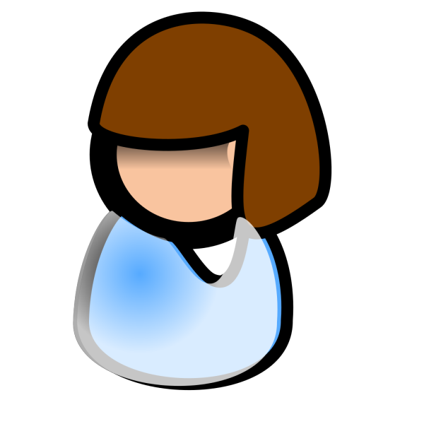 Girl - Brunette PNG icons