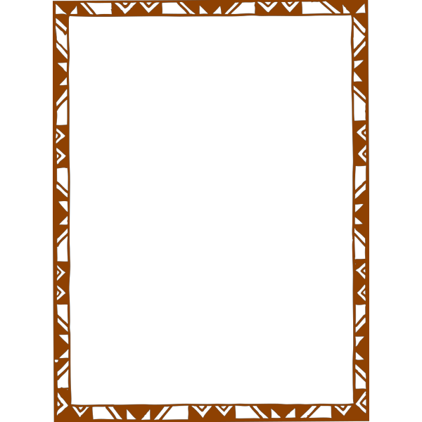 Brown-orange Frame PNG Clip art