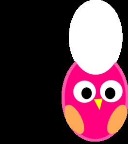 Aqua & Pink Owl Clip art