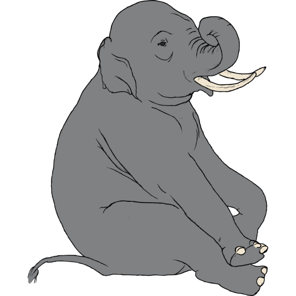 Sitting Elephant PNG Clip art