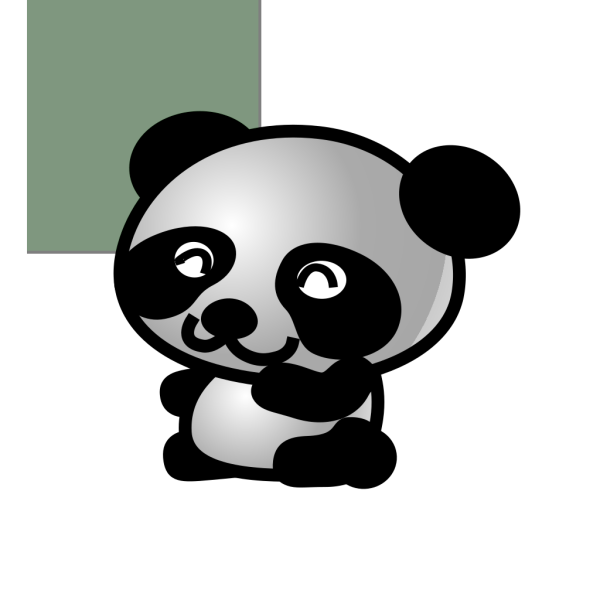 Panda Green Background Smaller
