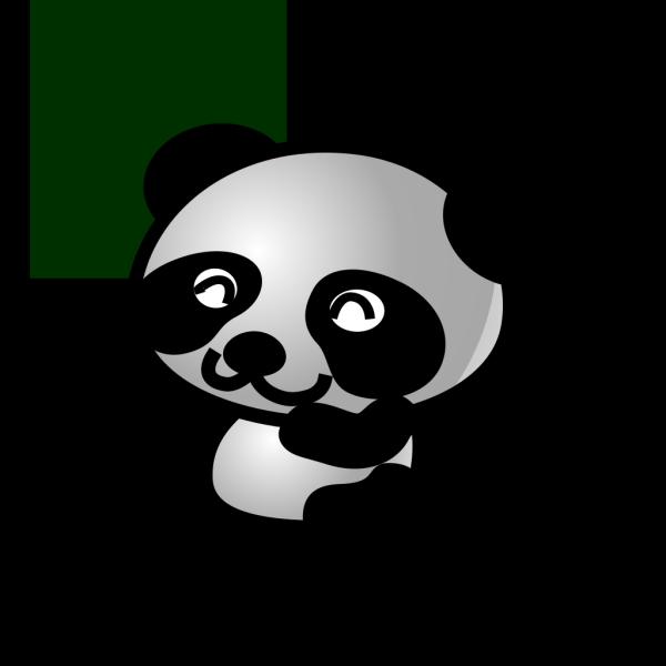 Panda Green Background Smaller PNG Clip art