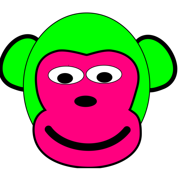 Green And Pink Monkey PNG Clip art