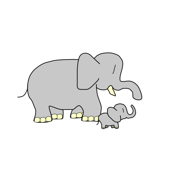 Parent And Child Elephants PNG images