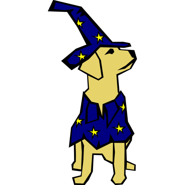 Dog In Wizard Costume PNG Clip art