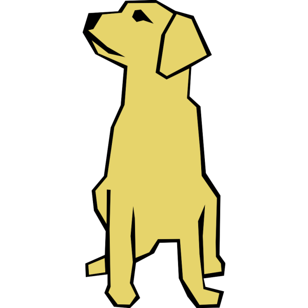 Dog Simple Drawing In Color PNG Clip art