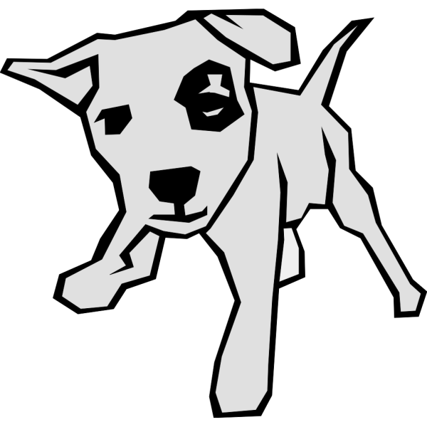 Dog With Spot In Color PNG Clip art