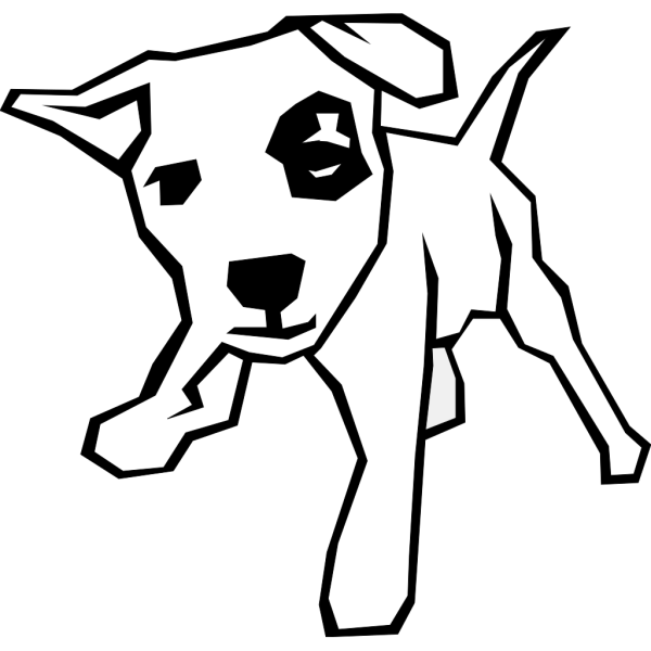 Dog With Spot PNG Clip art