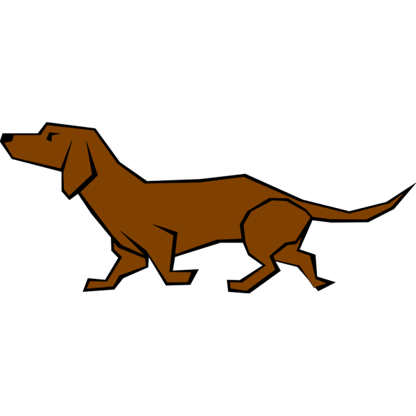 Simple Daschund Drawing In Color PNG images