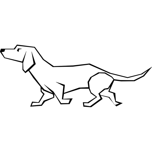 Simple Daschund Drawing PNG images