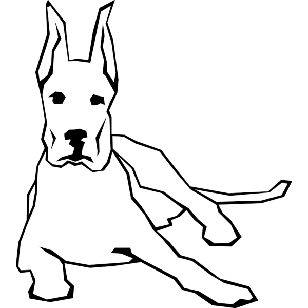 Simple Resting Dog Drawing PNG Clip art