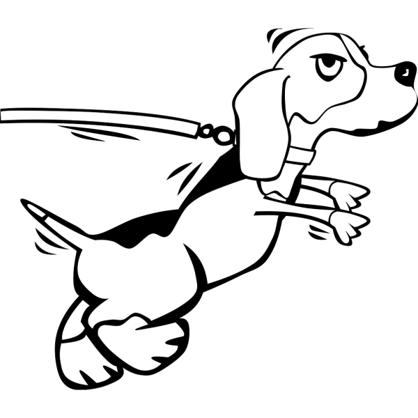 Dog On Leash Cartoon PNG images