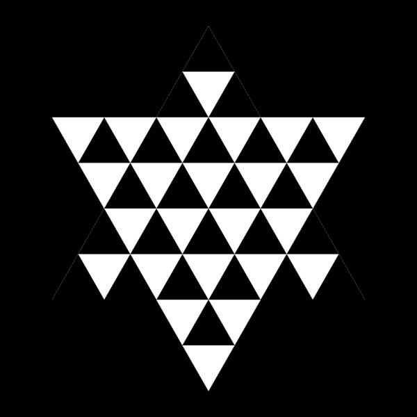 Triangle Hexagram PNG Clip art