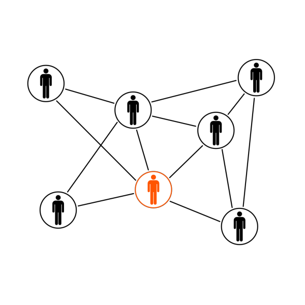 Black Orange Men Network PNG images