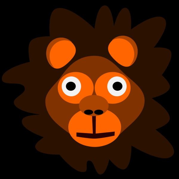 Brown Cartoon Lion Head PNG Clip art