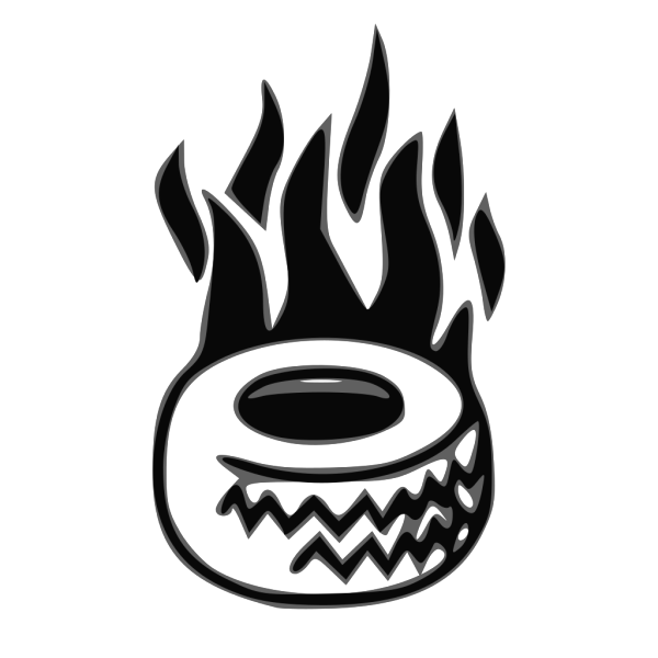 Tire On Fire PNG Clip art