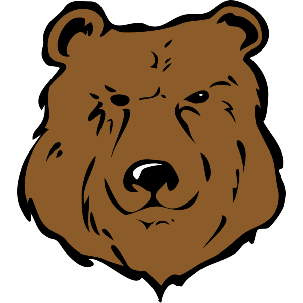Brown Bear Head Drawing PNG Clip art