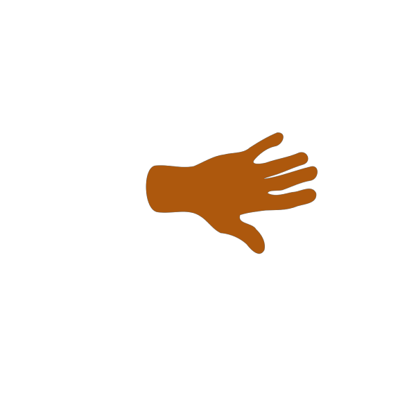 Brown Hand PNG Clip art
