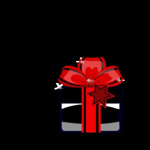Black Gift PNG Clip art