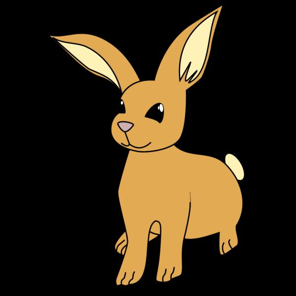Brown Cartoon Bunny PNG Clip art
