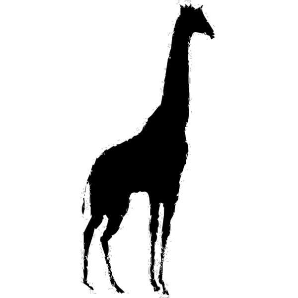 Brown Giraffe Silhouette On Ice PNG Clip art