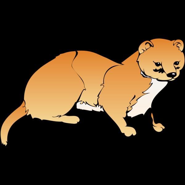 Orange Weasel PNG Clip art