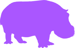 Brown And Purple Hippopotamus PNG images